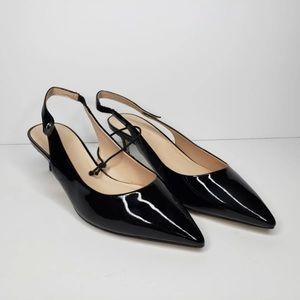 Kate Spade Shiloh Slingback Black Patent Leather